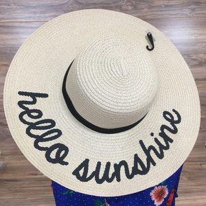 Hello Sun Hat Big Floppy Beach Hello Sunshine New